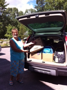 Lorraine Barrows, All packed up & ready to make the important deliveries.